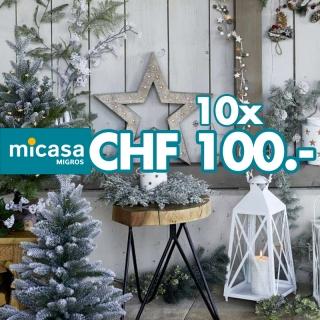 Renouvelez vos décorations! Gagnez 10 cartes d'achat MICASA d'une valeur de CHF 100.-!