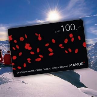 Une petite carte cadeau MANOR d'un valeur de CHF100.- sous le sapin !
