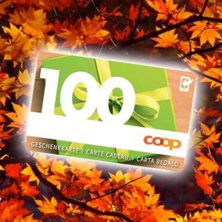 Faites vous plaisir! Gagnez votre carte cadeau COOP d'une valeur de CHF100.- !
