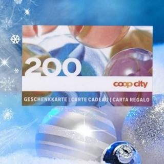 Les Fêtes approchent ! Gagnez votre carte cadeau COOP d'une valeur de CHF 200.- !